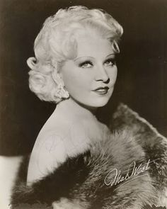 Mae West is the Mama of all Bombshells! This lady had power! And she was funny, sexy, smart and knew how to make the rules work for her. She wrote and starred in her own shows, always pushing the boundaries of risque and even legal. Like Marilyn, she was One of a Kind.