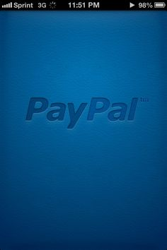 PayPal splash screen