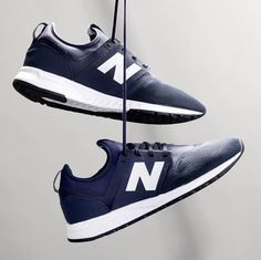 New Balance for J.Crew men's 247 Sport sneakers in royal navy.