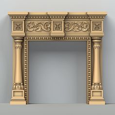 fireplace 002 max - April 27 2019 at Fireplace Design, Fireplace Mantels, Fireplaces, Gate Design, House Design, Ganpati Decoration At Home, Pillar Design, Pooja Room Door Design, 3d Cnc
