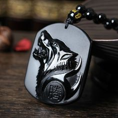 carved wolf head on sale at reasonable prices, buy Drop Shipping Black Obsidian Carving Wolf Head Obdidian Amulet pendant free necklace obsidian Blessing Lucky pendant Men Jewelry from mobile site on Aliexpress Now! Wolf Jewelry, Charm Jewelry, Fine Jewelry, Jewlery, Jewelry Necklaces, Wolf Necklace, Pendant Necklace, Men Necklace, Stone Necklace