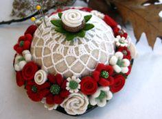 Woolly flower pincushion