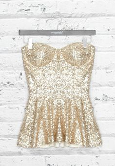 Sequin Peplum Top