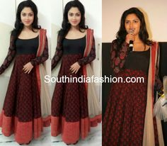 Amala Paul in Elegant Anarkali ~ Celebrity Sarees, Designer Sarees, Bridal Sarees, Latest Blouse Designs 2014