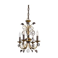 Minka-Lavery Belcaro Walnut Four-Light Mini Chandelier ($168) ❤ liked on Polyvore featuring home, lighting, ceiling lights, mini chandeliers, minka lavery chandelier, miniature lights, minka lavery lighting and miniature lamp