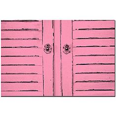 @Overstock - Artist: Patty Tuggle  Title:  'Hot Pink Shabby Chick'   Product type: Gallery-wrapped canvas http://www.overstock.com/Home-Garden/Patty-Tuggle-Hot-Pink-Shabby-Chic-Art/5080267/product.html?CID=214117 $35.49