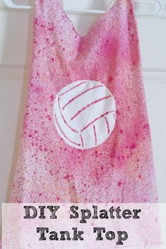 DIY Splatter Tank Top - using a stencil and fabric dye to create a cute tank top from a t shirt.