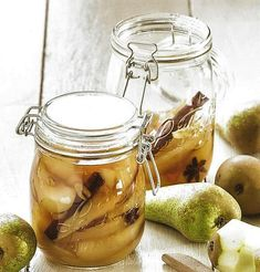 Opgelegde peren Pickels, Chutney, Cucumber, Creme, Food And Drink, Veggies, Homemade, Canning, Fruit Bewaren