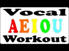 Vocal Warm Up / Vowel Exercise for Singing Lessons - AEIOU Song (Faster Version)