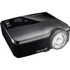 "ViewSonic PJD7383 XGA 1024x768 Ultra Short Throw DLP Projector - 3000 Lumens, 3000:1 DCR, 120Hz/3D Ready, 10W Speakers. 1024 x 768 XGA resolution, 3000 Lumens, 3000:1 DCR, PC-Less Picture Slide Show Presentation (USB Thumb Drive). Network & USB Display, Wireless Capable by Optional USB Dongle, Ultra Short Throw (0.61: 1). Projects 81"" image from 1m, 120Hz/3D TI DLP Link Ready, Stunning Color Clarity Powered by TI BrilliantColor Technology. Control Management via Ethernet (RJ45) with…"