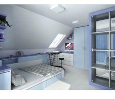 Bedroom Loft, Kids Bedroom, Room Interior, Interior Design Living Room, Attic Rooms, Lofts, Home Improvement Projects, Girl Room, Modern Decor