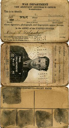 free printable old passport id ~ love old documents
