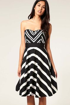 Coast Leeta Stripe Dress Sale Black/White