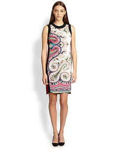 Who doesn't love paisley???  Sleeveless Shift Natural Waistline Paisley Dress