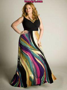 Cute Trendy Plus Size Maxi Dresses