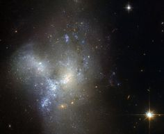 This image, taken by the NASA/ESA Hubble Space Telescope, shows a peculiar galaxy known as NGC 1487, lying about 30 million light-years away in the southern constellation of Eridanus.