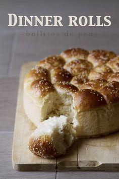 Bollitos de Pan de A mi lo que me gusta es Cocina #recetas #blog #cocina