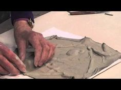 Ceramic Arts Daily – The Drop-Technique: How to Make Softly Textured Tiles for the Wall
