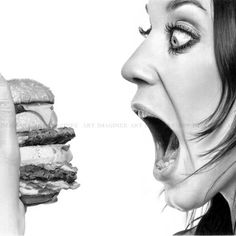 Food - A pencil drawing by Linda Huber