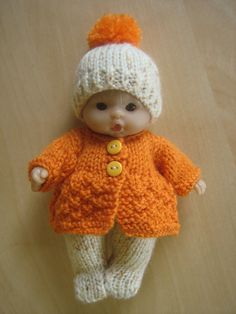 Hand Knitted 5 Berenguer Dolls Clothes by DesignerDollsClothes. Cute Knitting pattern to buy.