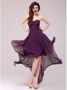 Abendkleider - $112.99 - A-Linie/Princess-Linie Herzausschnitt Asymmetrisch Chiffon Abendkleid  http://www.dressfirst.de/A-Linie-Princess-Linie-Herzausschnitt-Asymmetrisch-Chiffon-Abendkleid-017013987-g13987