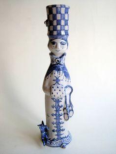 Bjorn Wiinblad Signed Studio Pottery Seasons Figurine Winter