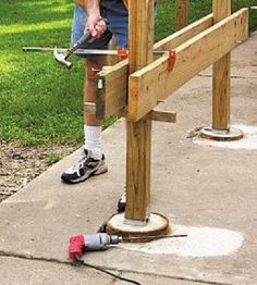 Deck Plans 490892428134503307 - How to Build a Stronger Deck Beam Deck Building Plans, Deck Plans, Pergola Designs, Deck Design, Pergola Ideas, Pergola Kits, Pergola Images, Patio Ideas, Garden Ideas