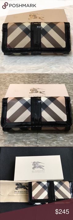 💯AUTHENTIC Burberry Supernova Wallet This is an authentic BURBERRY  Supernova Check Penrose Continental Wallet Black a448e8415d1