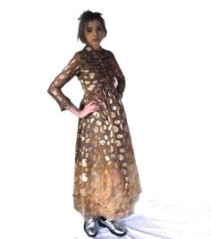 60s Gold Gown / Claudia by George Halley / Gold by judygovintage
