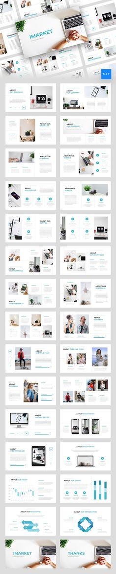 Imarket - Internet Marketing Keynote Template Company Presentation, Business Presentation Templates, Presentation Layout, Business Powerpoint Templates, Creative Powerpoint, Keynote Template, Presentation Slides, Page Layout Design, Web Design