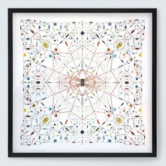 Leonardo Ulian – Technological mandala 20 Electronic components, copper wire, paper, wood frame,  2014