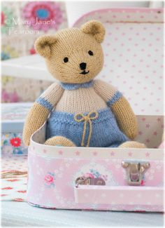 New Boy Bear Toy Knitting Pattern/ INSTANT por maryjanestearoom