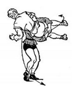 Бросок с захватом ног и выносом их в сторону (стр.118)