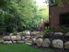 Boulder Retaining Wall Design, Pictures, Remodel, Decor and Ideas - page 3