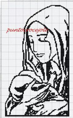 Mother and child x-stitchFilet