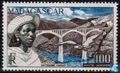 Postage Stamps - Madagascar - Antsirabe viaduct