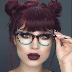 Vintage Inspired Cat Eye Silhouette Chic Trendy Reading Glasses – Brille Make-up Hooded Eye Makeup, Cat Eye Makeup, Eye Makeup Tips, Makeup Goals, Makeup Art, Fashion Eye Glasses, Cat Eye Glasses, Bambi, Cat Eye Colors