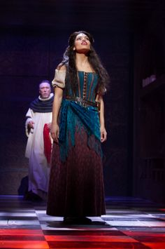 THE HUNCHBACK OF NOTRE DAME at Paper Mill Playhouse Photos by Jerry Dalia -- Patrick Page as Dom Claude Frollo and Ciara Renée as Esmeralda