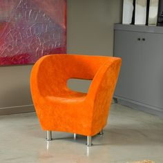 Christopher Knight Home Modern Orange Microfiber Accent Chair | Overstock.com Shopping - Great Deals on Christopher Knight Home Chairs