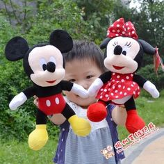 28CM-30CM  Lovely Mickey Mouse And Minnie Mouse Stuffed animal Soft Plush Toys Christmas Gifts education plush toys #>=#>=#>=#>=#> Click on the pin to check out discount price, color, size, shipping, etc. Save and like it!