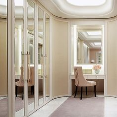 Mirrored Wardrobe Doors Dressing Area