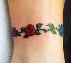 rose flower tattoo -