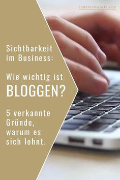 Blog-Artikel veröffentlichen, um das Business erfolgreich sichtbarer zu machen? Funktioniert immer seltener. Trotzdem lohnt sich das Bloggen für Berater*innen, Trainer*innen und Coaches. Im Blogpost verrate ich Dir 5 unterschätzte Gründe, warum. #indeinenworten