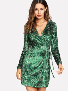 761a900ae8 Cheap women dress, Buy Quality wrap dress directly from China women party  dress Suppliers: SHEIN Women Party Dress Multicolor Geometric V Neck Long  Sleeve ...