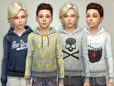 Hoodie for Boys P06  Found in TSR Category 'Sims 4 Male Child Everyday'