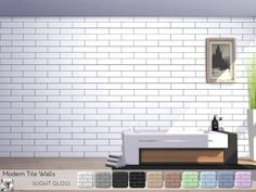 Torque Modern Tile Walls Created for: The Sims 4 These one-half offset modern tile walls have a slight gloss added to them for a nice sheen, great for modern kitchens and bathrooms, the. Kitchen Wallpaper Tiles, Bathrooms Remodel, Sims 4 Kitchen, Wall Tiles, Modern, Modern Tiles, Custom Furniture, Sims House, Kitchens Bathrooms