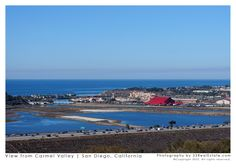 A view of the Del Mar Fairgrounds from the bluffs in Del Mar Highlands | Carmel Valley, San Diego, California 92130.