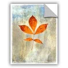 ArtWall Elena Ray Leaf I Art Appeals Removable Wall Art, Size: 36 x 48, White