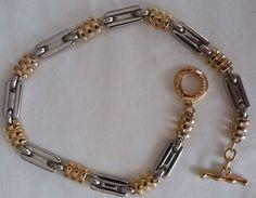 Vintage, anni  70, Pierre Cardin necklace, collana bicolore, oro e argento