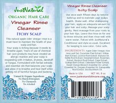 Free Vinegar Rinse Cleanser for Itchy Scalp